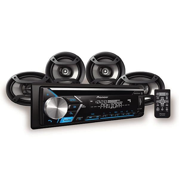 "Pioneer DXT-S4069BT ""YMMV"" Car Stereo CD Receiver with built-in Bluetooth®, two 6.5"" Speakers, two 6x9"" Speakers"