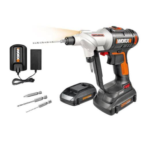 WX176L WORX 20V Switchdriver Cordless Drill & Driver - Manufacturer refurbished $49.99