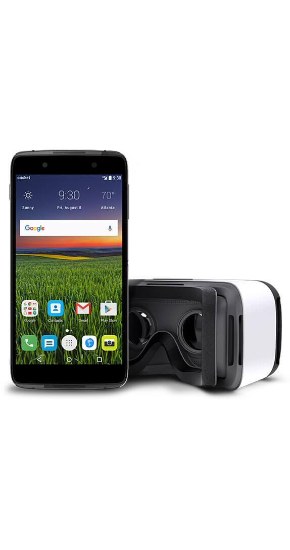 Cricket -  Alcatel IDOL 4 & VR Headset Pack $100 w/port ($149 w/o port) Free Ship