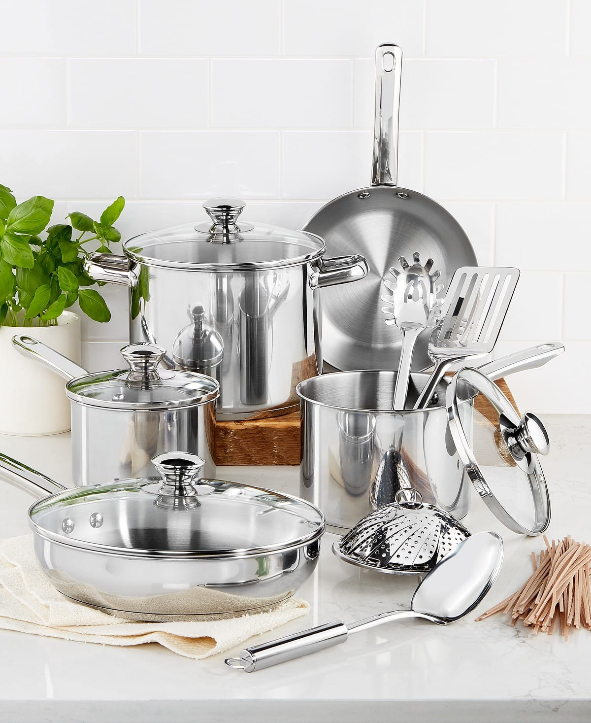 Macy's: Tools of the Trade 13pc Stainless Cookware Set AR $29.97