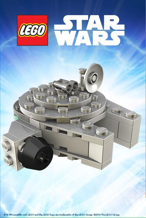 Free Mini LEGO Star Wars Millennium Falcon Build and take home Event at ToysRUs May 7 from 12-2pm