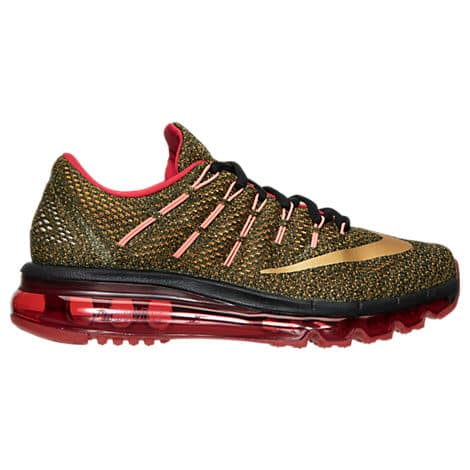 Women's Nike Air Max 2016 Running Shoes (Black/Metallic Gold/Vivid Orange) $84 + Free Store Pickup