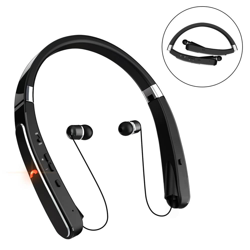 Retractable Bluetooth Headset, Wireless Earbuds With 30 Hours Playtime+free shipping $15.59