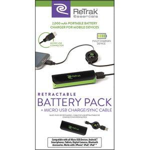 ReTrak 2000 mAh BAttery Pack + Retractable micro USB charge & Sync for $1.99 Free Shipping (through 8/28/2016)