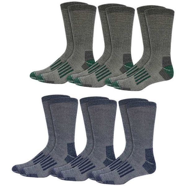 2c1a51e28 6-Pairs of Kirkland Signature Men s Merino Wool Blend Trail Socks ...