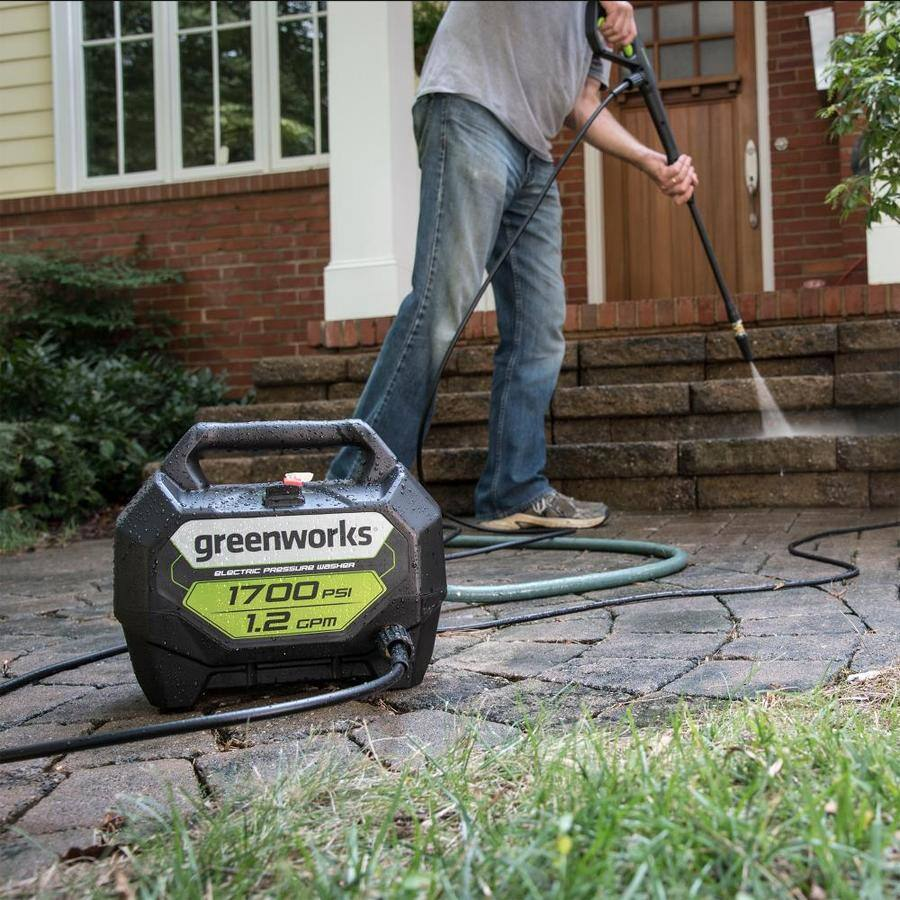 Greenworks 1700-PSI 1.2-GPM Cold Water Electric Pressure Washer $79