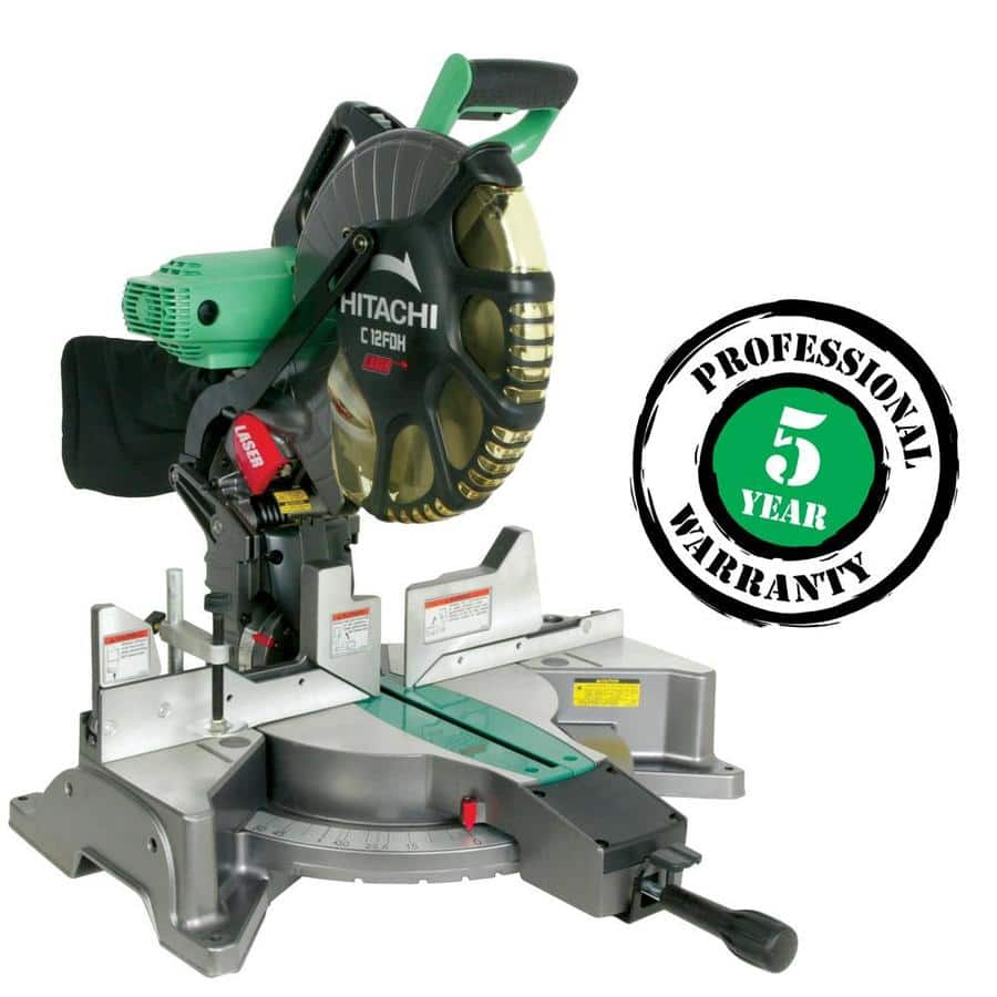 Hitachi C12FDH 15 Amp 12-Inch Dual Bevel Miter Saw with Laser $179 at Lowes after coupon + FREE SHIPPING
