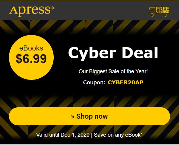 apress.com - $6.99 for any ebook