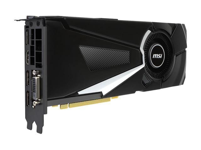 MSI GeForce GTX 1080 DirectX 12 GTX 1080 AERO 8G OC 8GB 256-Bit GDDR5X PCI Express 3.0 x16 HDCP Ready SLI Support ATX Video Card $459.99