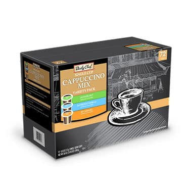 Daily Chef Cappuccino Mix Variety Pack (72 K-Cups)  - $20.98 (~.29/piece) @ Sam's Club w\ Free Shipping