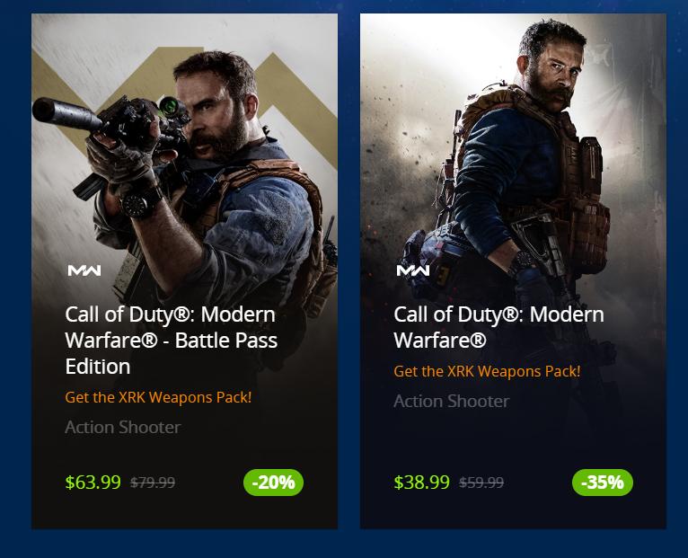 Call of Duty Modern Warfare PC Standard Edition $38.99