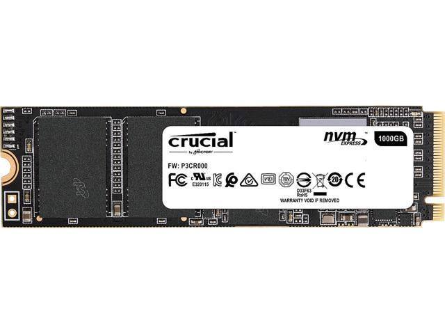 Crucial P1 1TB 3D NAND NVMe PCIe M.2 SSD - CT1000P1SSD8 - $103 at Newegg