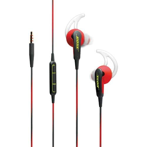 Bose SoundSport In-Ear Headphones, Power Red or Charcoal - $19.88