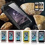 Water Resistant Shockproof Aluminum Glass Case Cover For iPhone 5, 5S, 5C, 6, 6 Plus starting at $9.09 FS.