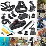 GoPro 12-In-1 Outdoor Sports Essentials Kit (Mounts, Straps, Adapters) - $17.99 AC + Free Prime Shipping @ Amazon