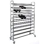 Home-It Chrome Wheeled 50 Pair Shoe Rack Organizer - $37.99 AC + Free Shipping @ Amazon