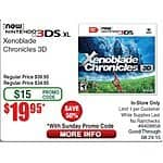 Xenoblade Chronicles 3D $19.95 @ Fry's Electronics with Promo Code *Store Pickup Only*