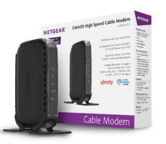 NETGEAR High Speed DOCSIS 3.0 Cable Modem (CM400-1AZNAS) for $46.99 + FS (Prime) (Amazon)