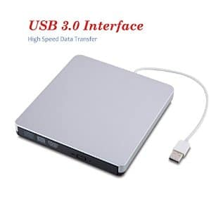 USB 3.0 Portable External DVD/CD-RW Drive-Burner-Write With Built-in USB Cable for $21.98 + FS (Prime) (Amazon)
