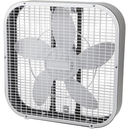 """Holmes - 20"""" Box Fan - White for $12.99 + FSP (Bestbuy)"""