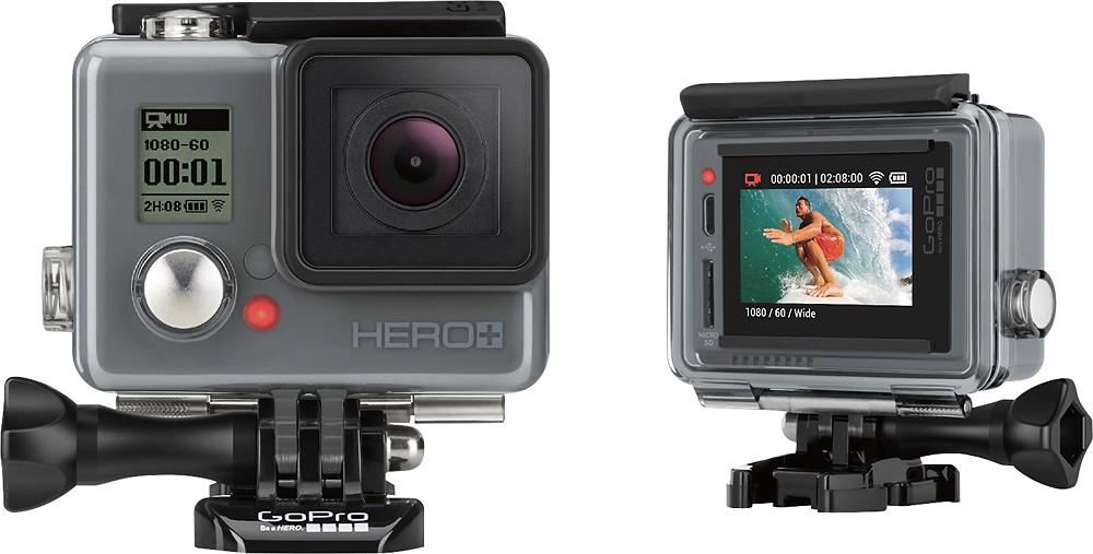 GoPro - HERO+ LCD HD Waterproof Action Camera for $199.99 + Battery/Wifi Remote Bundle + $20 Shutterfly Goodies + FS (Bestbuy)