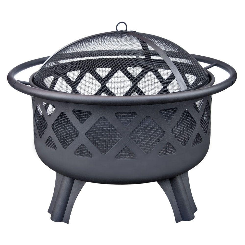 Home Depot $49 - Hampton Bay   Crossfire 29.50 in. Steel Fire Pit with Cooking Grate