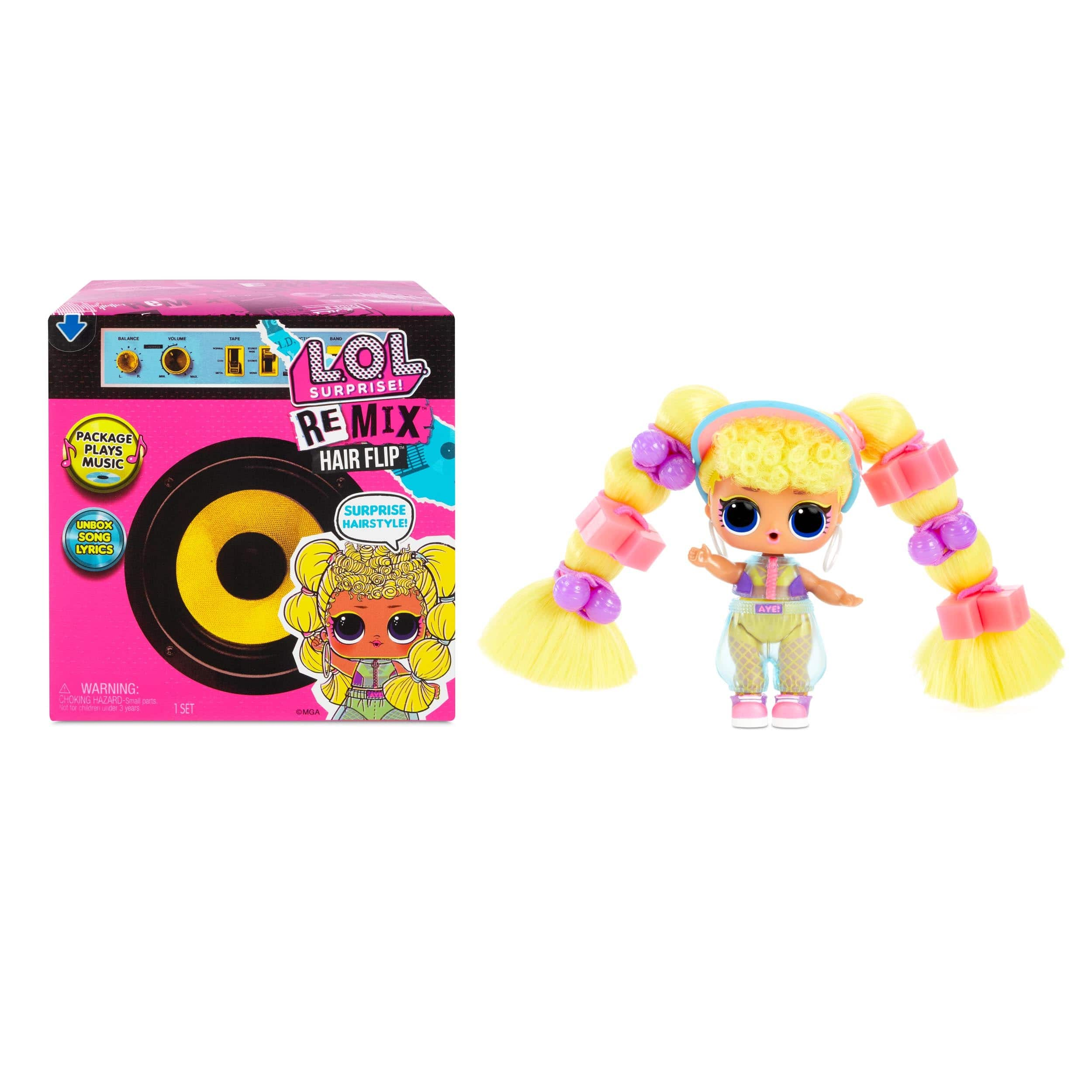 LOL Surprise Remix Hair Flip Dolls - 15 Surprises with Hair Reveal & Music $5.00 + Free shipping w/ $35+