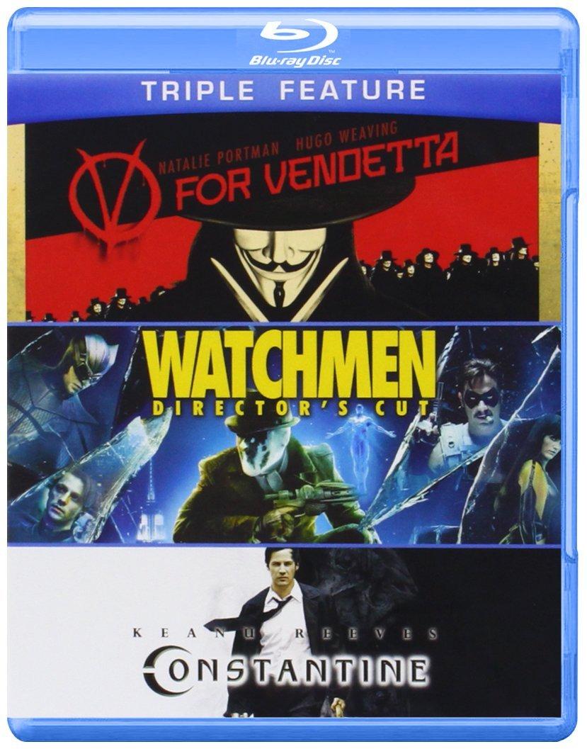 V for Vendetta / Watchmen / Constantine [Blu-ray] - $9.96 at Amazon
