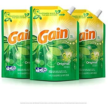 3-Pack 48oz. Gain HE Smart Pouch Liquid Laundry Detergent, Original $11.04 w/ S&S + Free Shipping