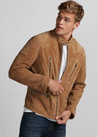 Genuine Leather Jacket (suede) at Express Men $119