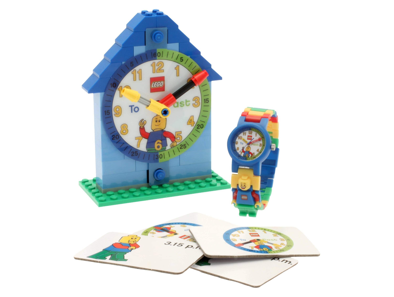 LEGO Time Teacher Set : Minifigure-Link Watch, Constructible Clock, Activity Cards - Blue $13.92
