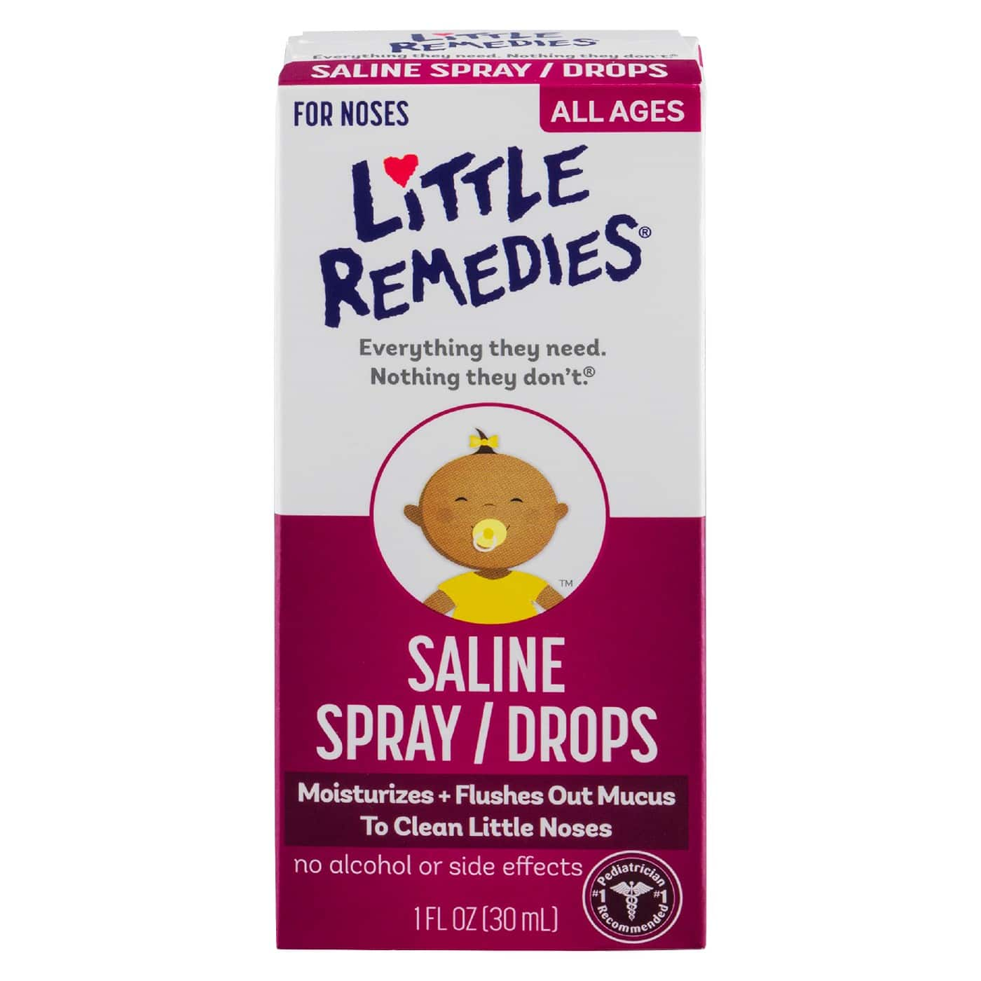 4 x Little Remedies Saline Spray/Drops Noses All Ages - B&M only Cartwheel Deal YMMV $1.03