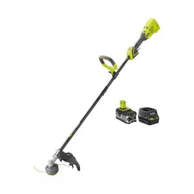RYOBI ONE+ 18-Volt Lithium-Ion Brushless Cordless String Trimmer - 4.0 Ah Battery and Charger Included  $75 INSTORE YMMV