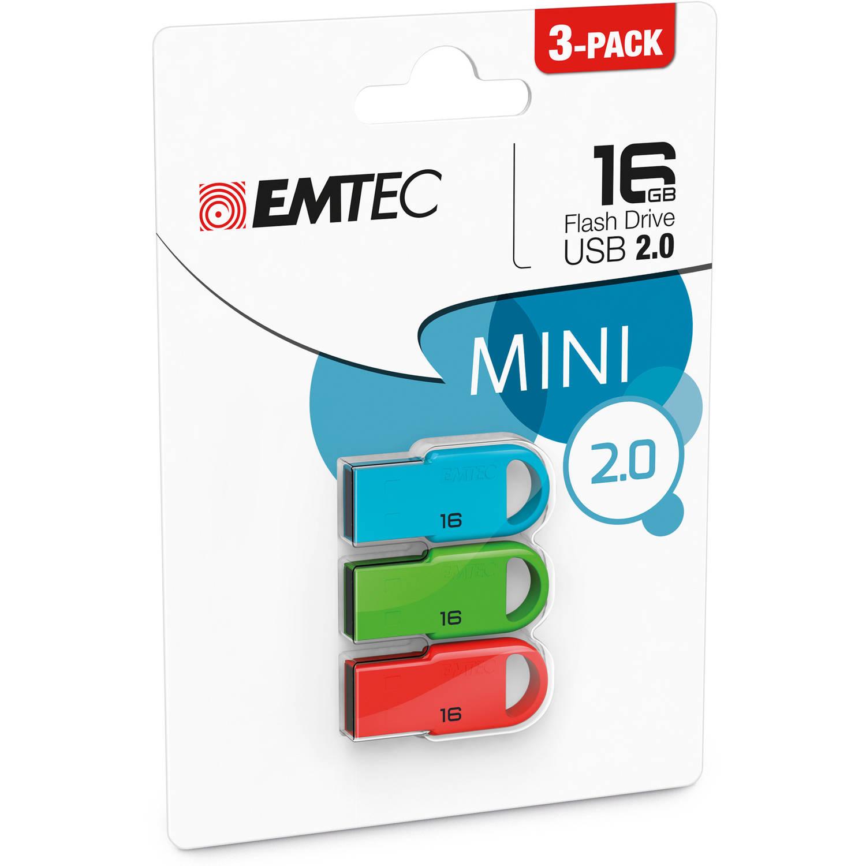 Emtec USB 2.0 16GB Flash Drive 3-Pack - Walmart.com - $11.29 - free in-store pickup.
