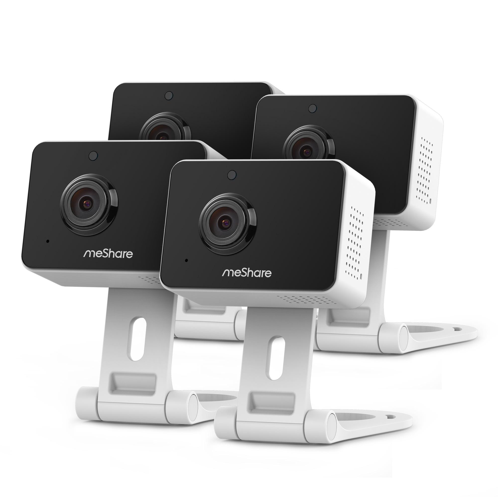 meShare 1080p Mini Wireless Two-way Audio Camera 4-Pack $50