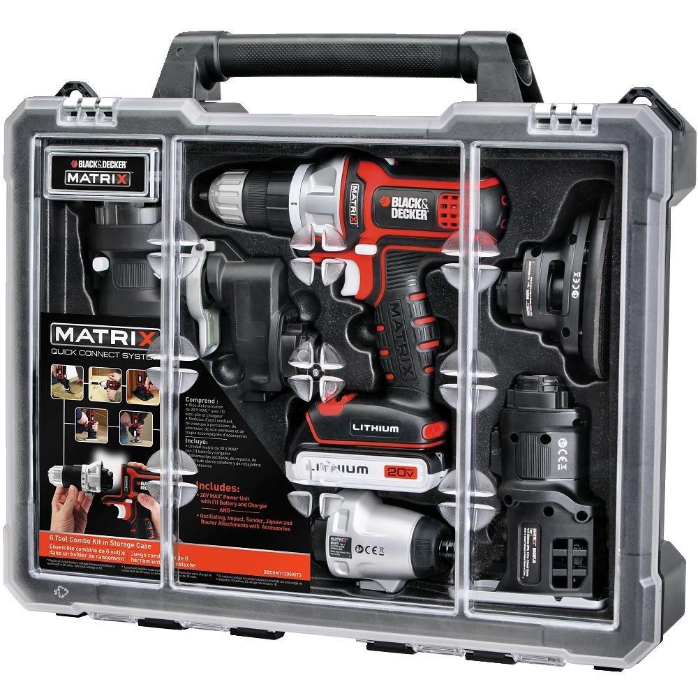 Black & Decker BDCDMT1206KITC Matrix 6 Cordless Tool Combo Kit with Case $119