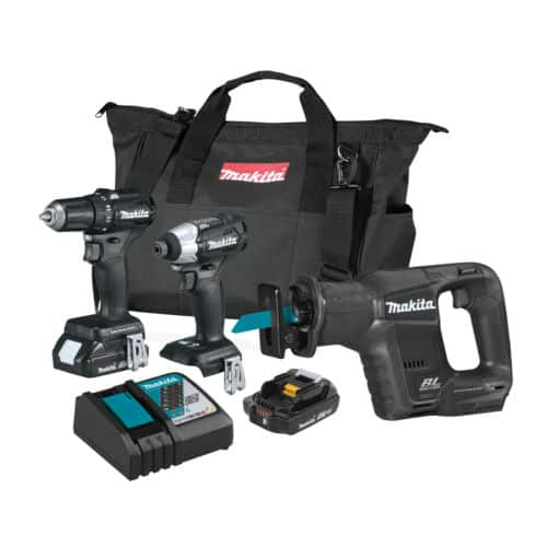 Makita 18 Volt LXT Sub Compact Brushless Cordless 3 Piece Combo Tool Kit 2.0Ah for $224.99