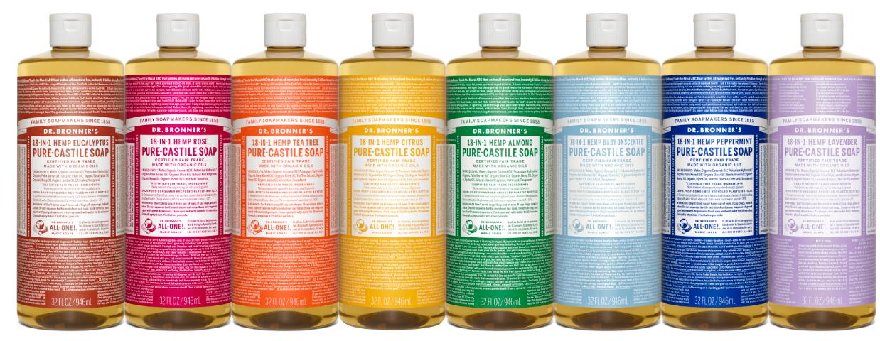 Dr. Bronner's Pure-Castile Soap - 32 fl oz bottle, $11.19 + FS after 15. All scents available. Fairway Market via Google Express
