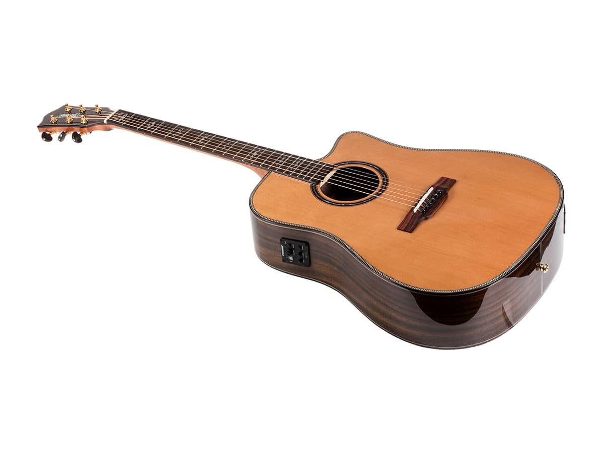 Monoprice: Idyllwild Cedar Solid Top Acoustic Electric Guitar with Fishman Pickup Tuner and Gig Bag - $158.07 AC with FREE Shipping