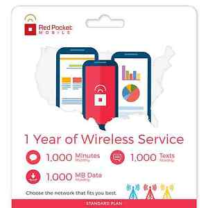 RedPocket Mobile 1 yr contract for $159 (1000 min/1000 txt/ 1 GB data per month) AT&T or Verizon