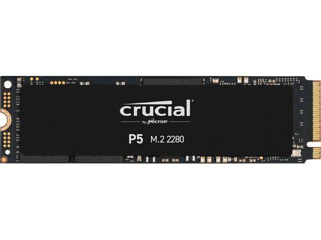 Crucial P5 500GB 3D NAND NVMe Internal SSD, up to 3400MB/s - CT500P5SSD8 $50.99