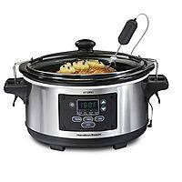 Kohls Deal: Hamilton Beach Set & Forget 6qt Slow Cooker $35 + tax AC FS with Kohl's Card