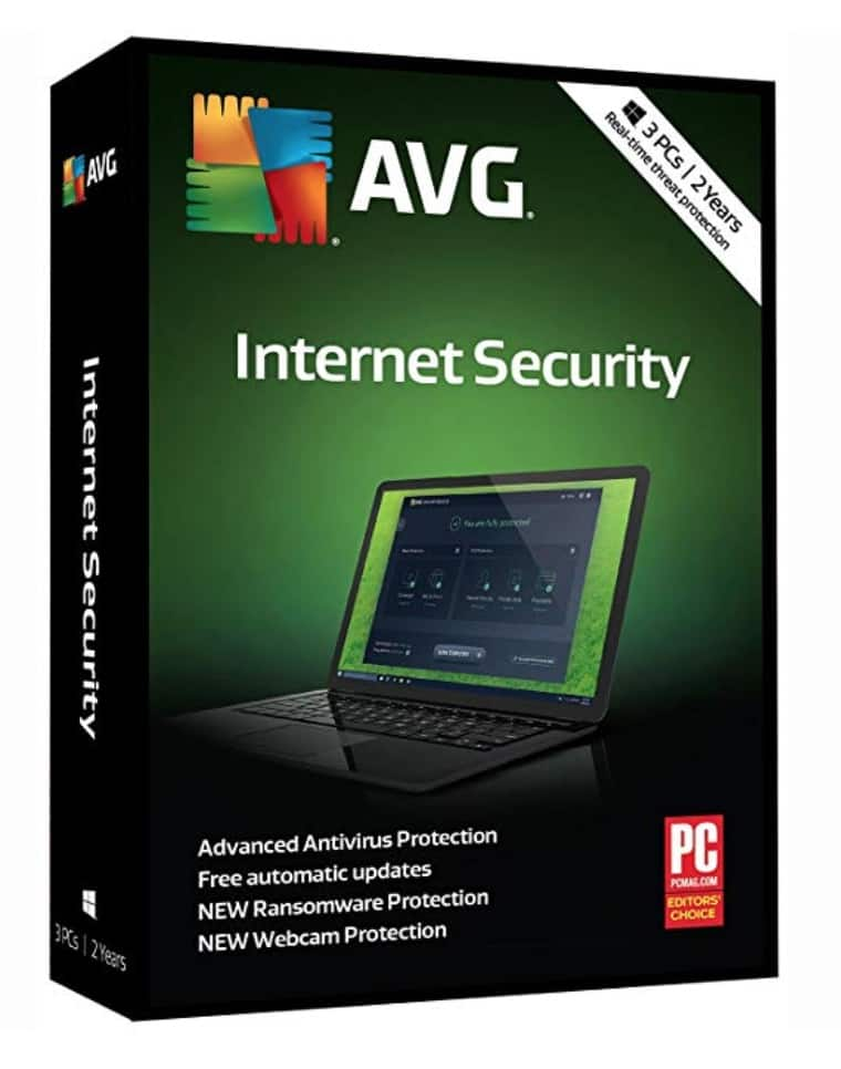 AVG Internet Security 2018, 2 Years/3 PCs [KEY CARD] (3-Users) $19.99