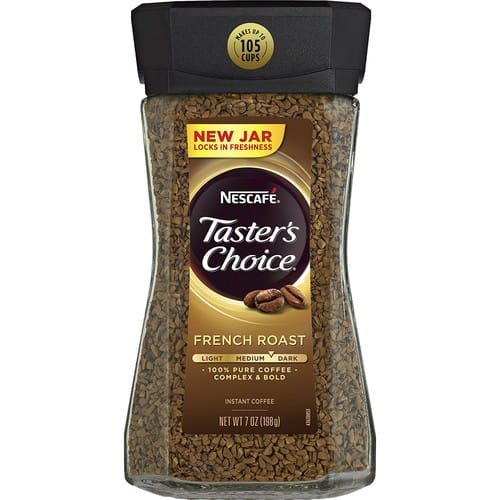 for Taster's Choice French Roast Coffee lovers only 6x 7oz for $36.88 thats $6.14 each  Amazon Pantry sale