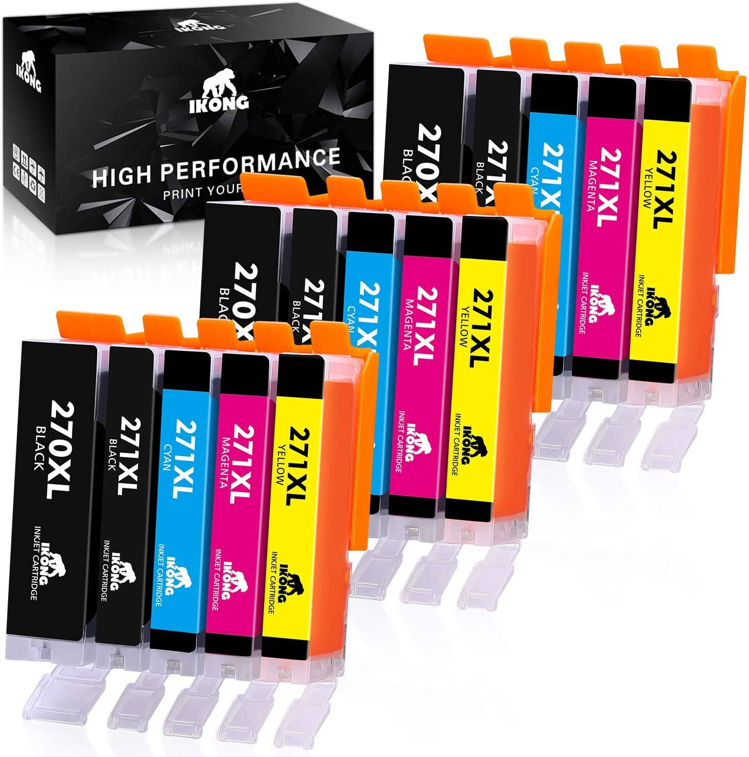 15x ink Cartridges (3 Complete Sets) for Canon Pixma PGI-270XL CLI-271XL $9.12 Shipped w/Prime Compatible Canon 270 and 271