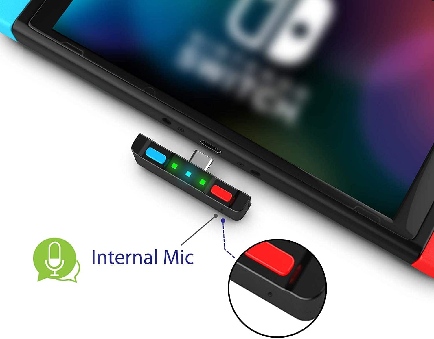 HomeSpot Dual aptX Bluetooth 5.0 Audio Transmitter with Qualcomm Chipset USB C  w/Mic for Nintendo Switch $24.49 AC Amazon