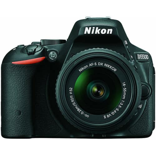 Refurbished Nikon D5500 DX with 18-55mn vr II lens for $499
