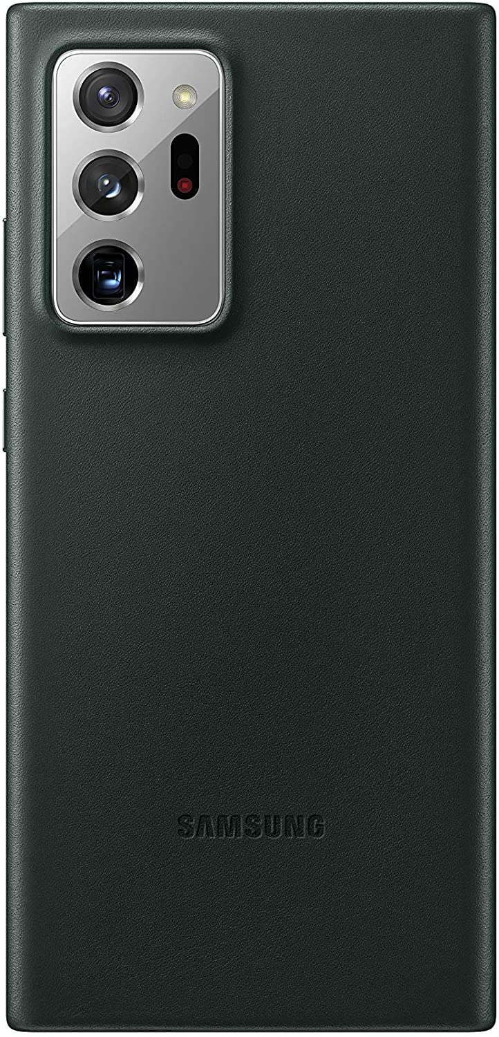 SAMSUNG Galaxy Note20 Ultra 5G Case, Leather Back Cover Amazon $24.99