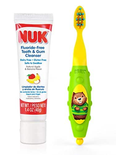 [Alexa deal] NUK Toddler Tooth and Gum Cleanser with 1.4 Ounce Toothpaste, $4 + Free shipping