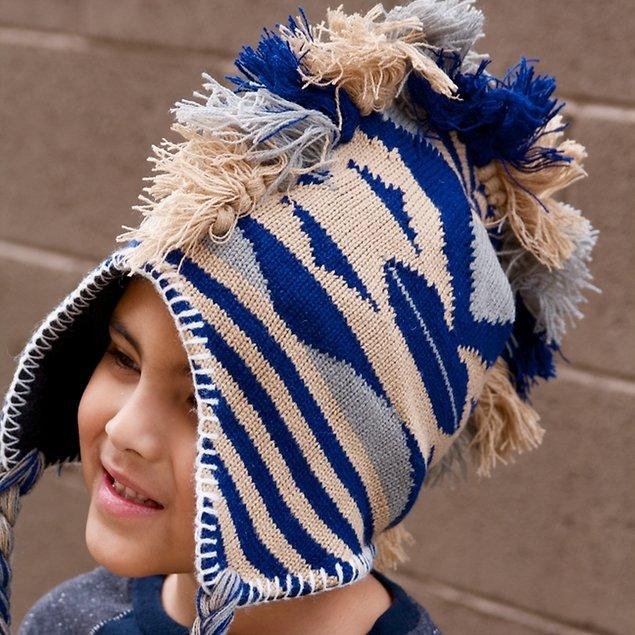Mohawk Warm Winter Helmet Hat - Diamond Pattern $2.99 + fs